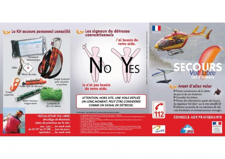 poster Bonnes pratiques et consignes de sécurité en parapente