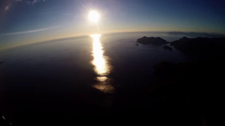 paragliding oludeniz sunset