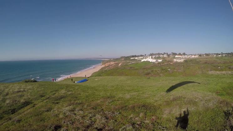 image vue en vol décollage herbeux de Méco au Portugal