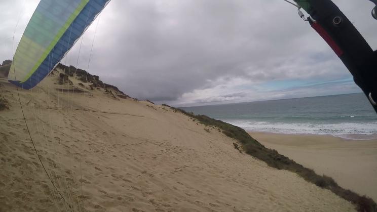 image wing au decollage de parapente de meco portugal