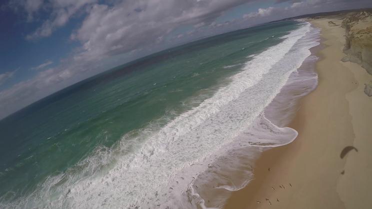 image aerienne praia de meco